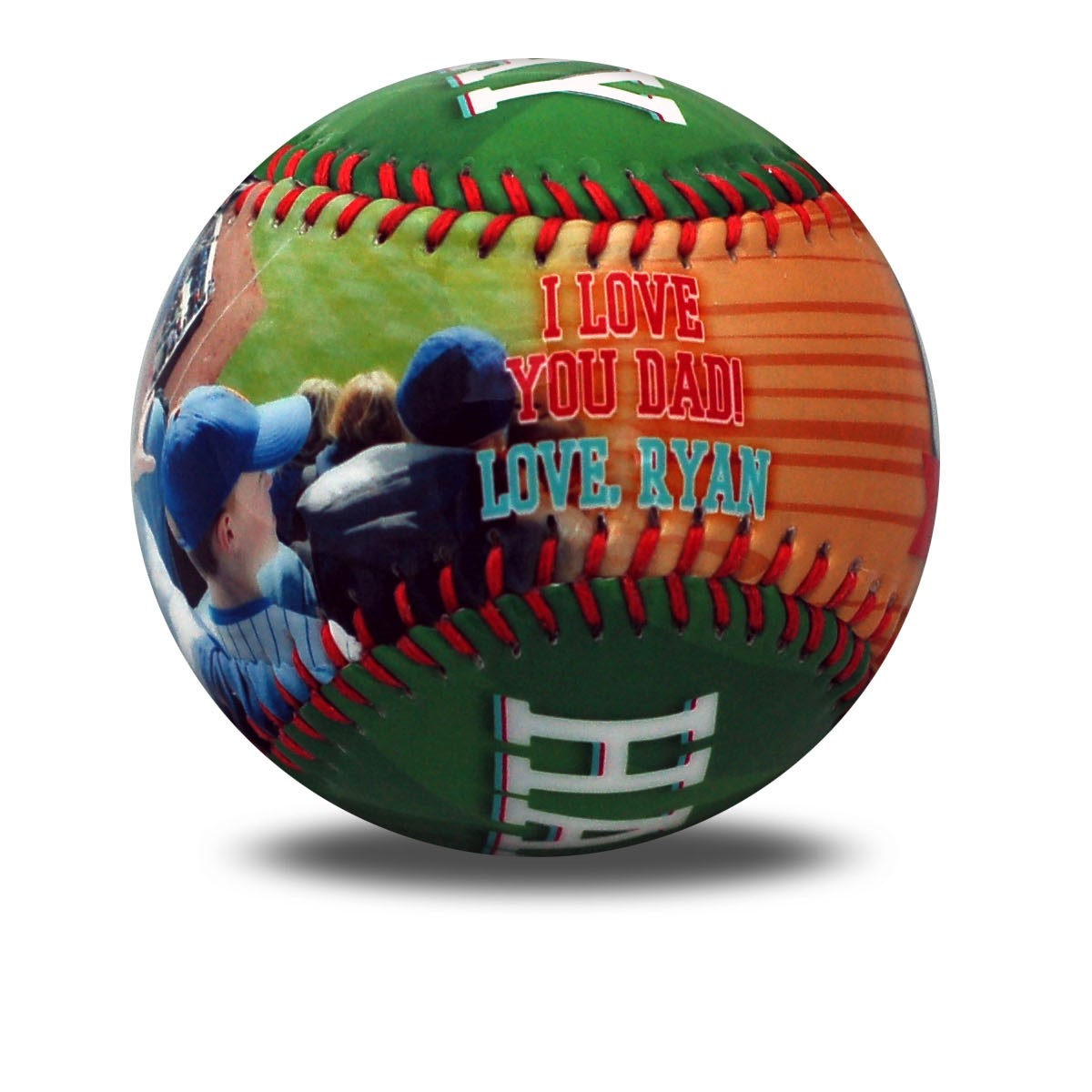 personalized father's day baseball