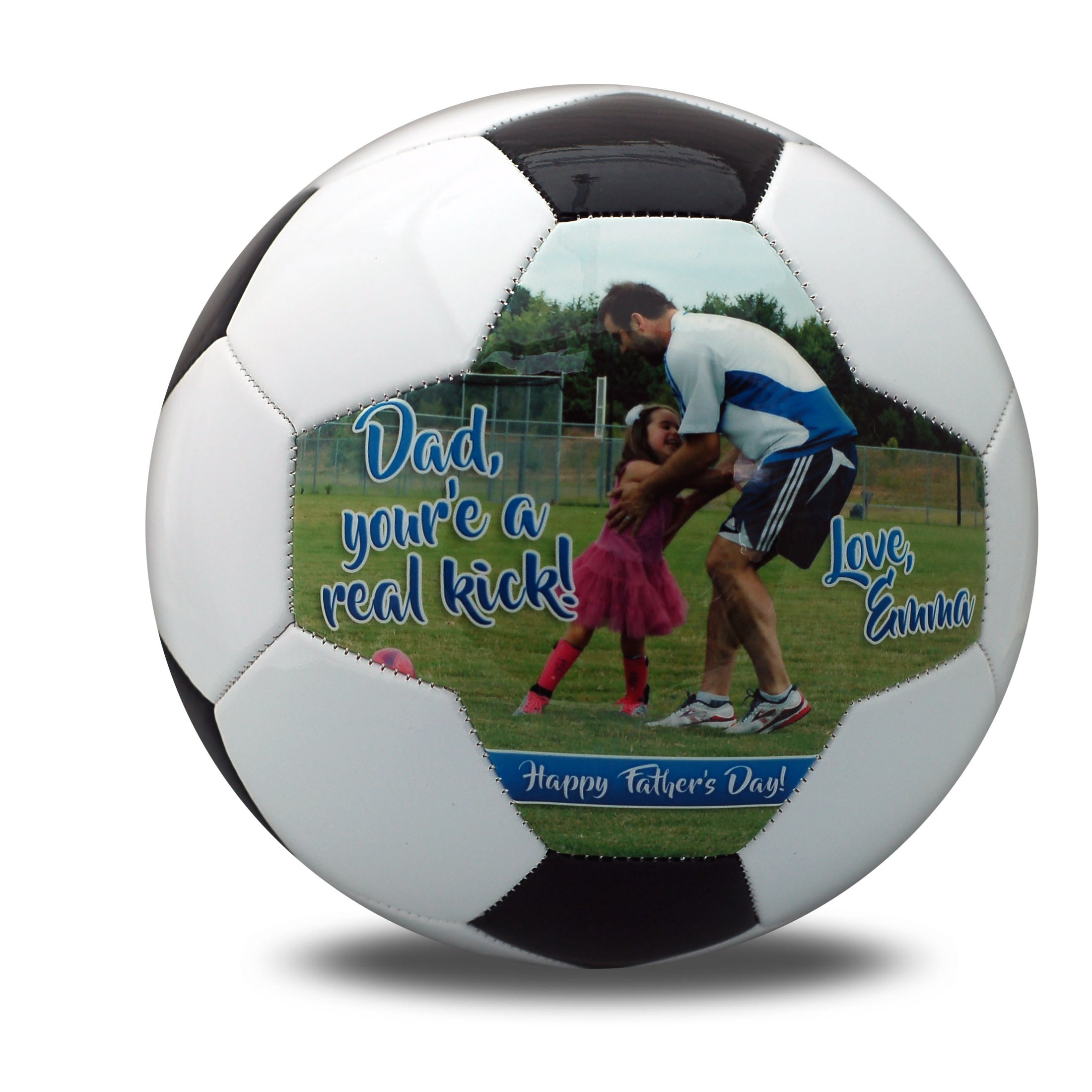 personalized father's day soccerball